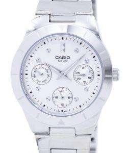 カシオ Enticer アナログ クオーツ シルバー ダイヤル LTP 2083D 7AVDF LTP 2083D 7AV レディース腕時計