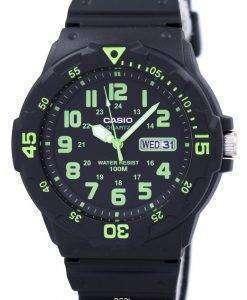 カシオ石英アナログ ブラック ダイヤル MRW 200 H 3BVDF MRW 200 H 3BV メンズ腕時計