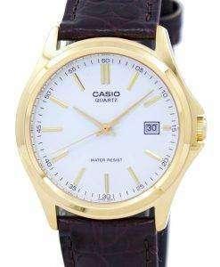 カシオ石英アナログ ホワイト ダイヤル ゴールド トーン MTP 1183Q 7ADF 7 a MTP 1183Q メンズ腕時計