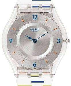 スウォッチ皮膚薄いライナーが古典的なアナログ クオーツ SFE108 レディース腕時計