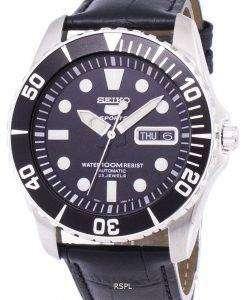 セイコー 5 スポーツ自動比黒革 SNZF17K1 LS6 メンズ腕時計