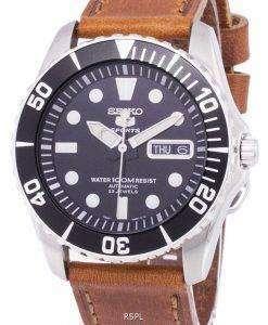 セイコー 5 スポーツ自動比茶色の革 SNZF17K1 LS9 メンズ腕時計