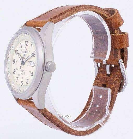 セイコー 5 スポーツ自動比茶色の革 SNZG07K1 LS9 メンズ腕時計