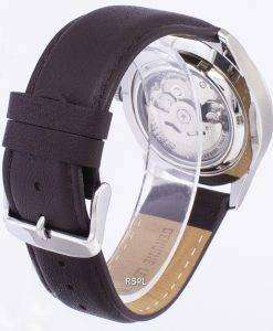 セイコー 5 スポーツ自動比ダークブラウン レザー SNZG09K1 LS11 メンズ腕時計