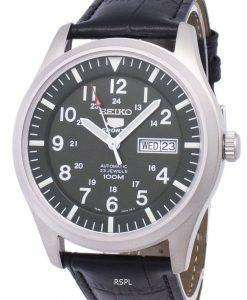 セイコー 5 スポーツ自動比黒革 SNZG09K1 LS6 メンズ腕時計