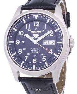 セイコー 5 スポーツ自動比黒革 SNZG11K1 LS6 メンズ腕時計