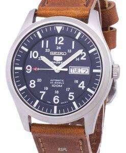 セイコー 5 スポーツ自動比茶色の革 SNZG11K1 LS9 メンズ腕時計