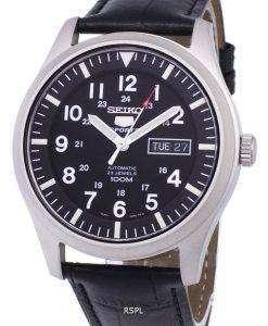 セイコー 5 スポーツ自動比黒革 SNZG15K1 LS6 メンズ腕時計