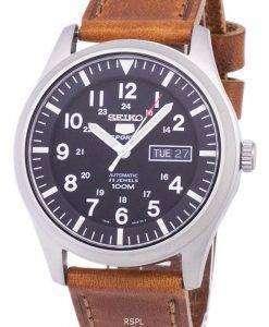 セイコー 5 スポーツ自動比茶色の革 SNZG15K1 LS9 メンズ腕時計
