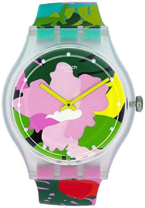 スウォッチ オリジナル トロピカル ガーデン アナログ クオーツ SUOK132 ユニセックス腕時計