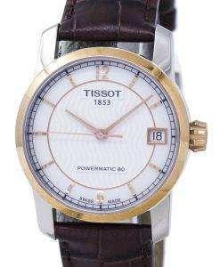 ティソ チタン Powermatic 80 T087.207.56.117.00 T0872075611700 レディース腕時計