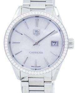 タグ ・ ホイヤー カレラ水晶ダイヤモンド アクセント WAR1315。BA0778 レディース腕時計