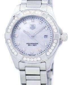 タグ ・ ホイヤー アクア レーサー クォーツ ダイヤモンド アクセント WAY1414。BA0920 レディース腕時計
