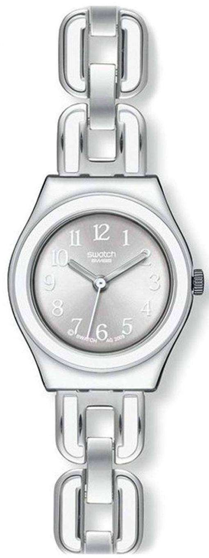 スウォッチ アイロニー白チェーン水晶 YSS254G レディース腕時計