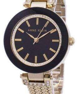 アン ・ クライン水晶ダイヤモンド アクセント 1906BKGB レディース腕時計