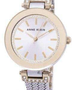 アン ・ クライン水晶ダイヤモンド アクセント 1907SVTT レディース腕時計
