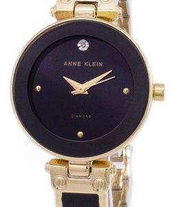 アン ・ クライン水晶ダイヤモンド アクセント 1980BKGB レディース腕時計