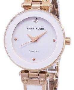 アン ・ クライン水晶ダイヤモンド アクセント 1980WTRG レディース腕時計
