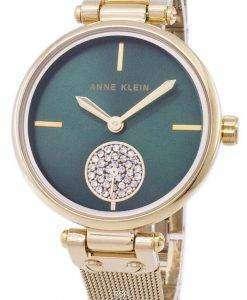 アン ・ クライン水晶ダイヤモンド アクセント 3000GNGB レディース腕時計