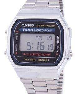 カシオ デジタル アラーム クロノ ステンレス鋼 A168WA 1WDF A168WA 1 w ユニセックス腕時計