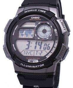 カシオ青年シリーズ デジタルワールド タイム AE 1000 w 1BVDF AE 1000 w 1BV メンズ腕時計