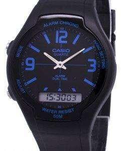 カシオ アナログ デジタルのデュアル タイム AW 90 H 2BVDF AW 90 H 2BV メンズ腕時計