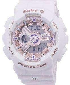 カシオベビー-G の耐衝撃性世界時間 BA 110CH 7A BA110CH 7 a レディース腕時計