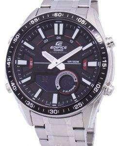 カシオ目覚ましアナログ デジタル クオーツ低公害車-C100D-1AV EFVC100D-1AV メンズ腕時計