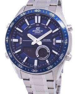 カシオ目覚ましアナログ クオーツ EFVC100D-2AV 低公害車-C100D-2AV メンズ腕時計