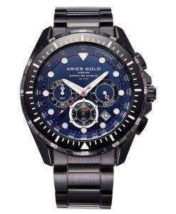 牡羊座金刺激大西洋クロノグラフ クォーツ G 7002 BK BU メンズ腕時計