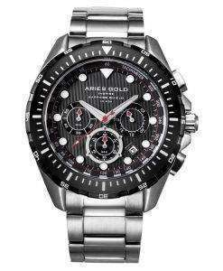 牡羊座金刺激大西洋クロノグラフ クォーツ G 7002 SBK BK メンズ腕時計