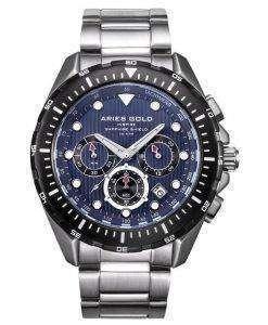 牡羊座金刺激大西洋クロノグラフ クォーツ G 7002 SBK BU メンズ腕時計