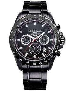 牡羊座金刺激ドリフター クロノグラフ クォーツ G 7001 BK BK メンズ腕時計