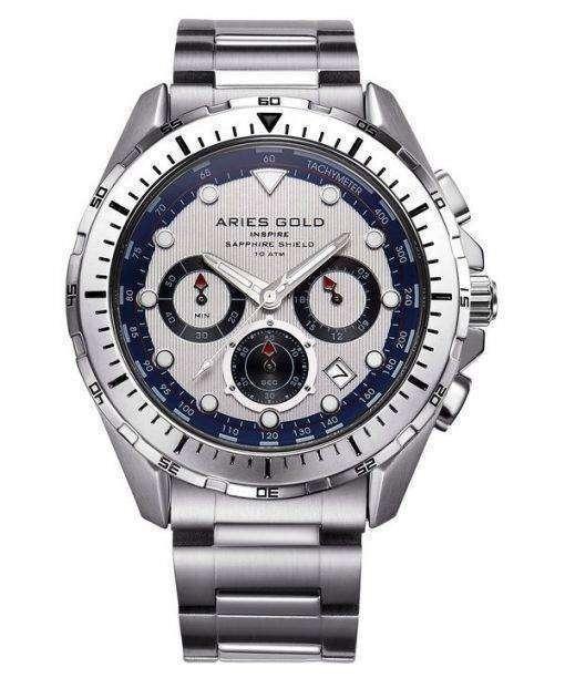 牡羊座金刺激大西洋クロノグラフ クォーツ G 7002 S ・ S メンズ腕時計