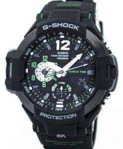 カシオ G ショック GRAVITYMASTER ツイン センサー世界時間 GA 1100-1 a 3 メンズ腕時計