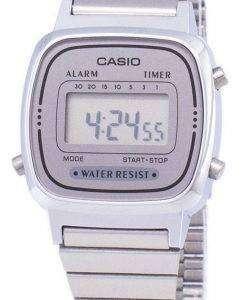 カシオ デジタル ステンレス アラーム タイマー LA670WA 7DF LA670WA 7 レディース腕時計
