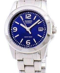カシオ アナログ クオーツ ブルー ダイヤル LTP 1215A 2ADF LTP-1215A-2 a レディース腕時計