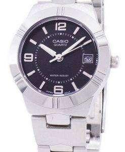 カシオ Enticer アナログ クオーツ ブラック ダイヤル LTP 1241 D 1ADF LTP-1241 D-1 a レディース腕時計