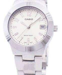 カシオ Enticer アナログ クオーツ ホワイト ダイヤル LTP 1241 D 7A2DF LTP 1241 D 7A2 レディース腕時計