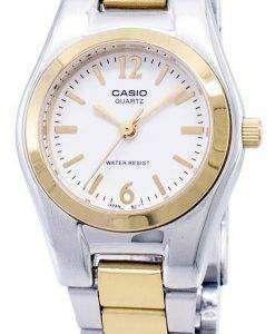 カシオ Enticer アナログ クオーツ ホワイト ダイヤル LTP 1253SG 7ADF 7 a LTP-1253SG レディース腕時計