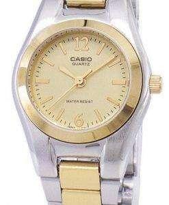 カシオ Enticer アナログ クオーツ ゴールド ダイヤル LTP-1253SG-9ADF 9 a LTP-1253SG レディース腕時計