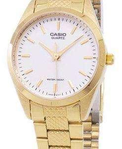 カシオ アナログ クオーツ ゴールド トーン ホワイト ダイヤル LTP 1274 G 7ADF LTP 1274 G 7A レディース腕時計