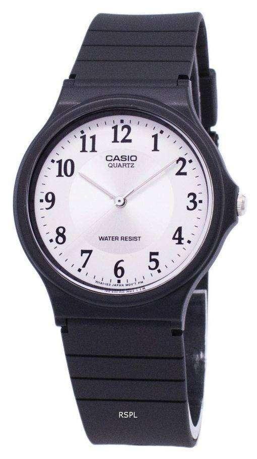 カシオ石英アナログ ホワイト ダイヤル MQ 24 7B3LDF MQ 24 7B3L メンズ腕時計