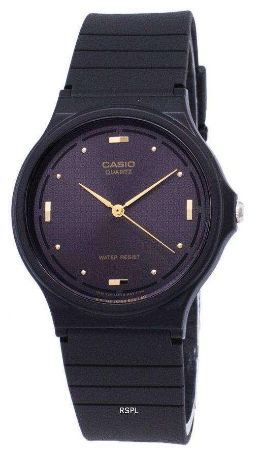 カシオ石英 Enticer アナログ ブラック ダイヤル MQ 76 1ALDF MQ 76 1AL メンズ腕時計