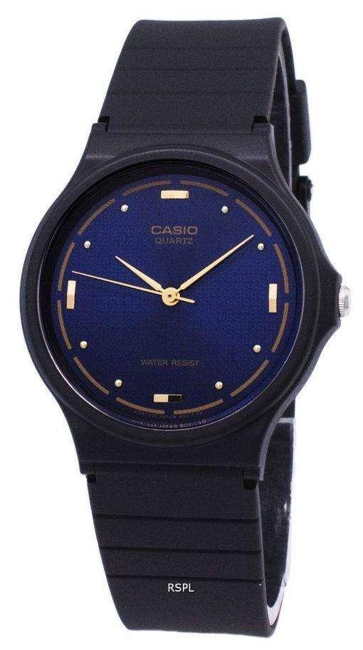カシオ石英 Enticer アナログ ブルー ダイヤル MQ 76 2ALDF MQ 76 2AL メンズ腕時計