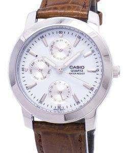 カシオ Enticer 水晶革マルチ ダイヤル ストラップ MTP 1192E 7ADF 7 a MTP-1192E メンズ腕時計