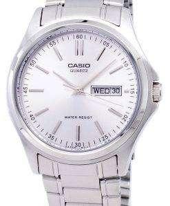 カシオ Enticer 石英アナログ シルバー ダイヤル MTP 1239 D 7ADF MTP 1239 D-7 a メンズ腕時計