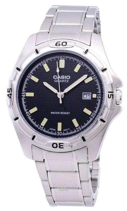 カシオ Enticer 石英アナログ ブラック ダイヤル MTP 1244 D 8ADF MTP 1244 D 8A メンズ腕時計