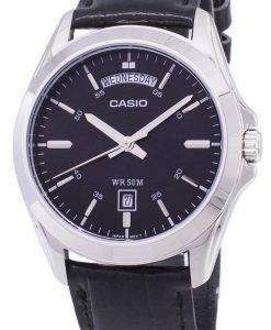 カシオ アナログ ブラック ダイヤル MTP 1370 L 1AVDF MTP 1370 L 1AV メンズ腕時計