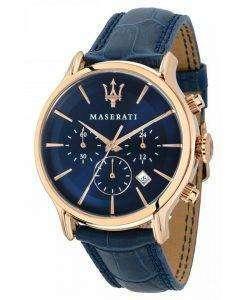 マセラティ刊行物に掲載クロノグラフ クォーツ R8871618007 メンズ腕時計